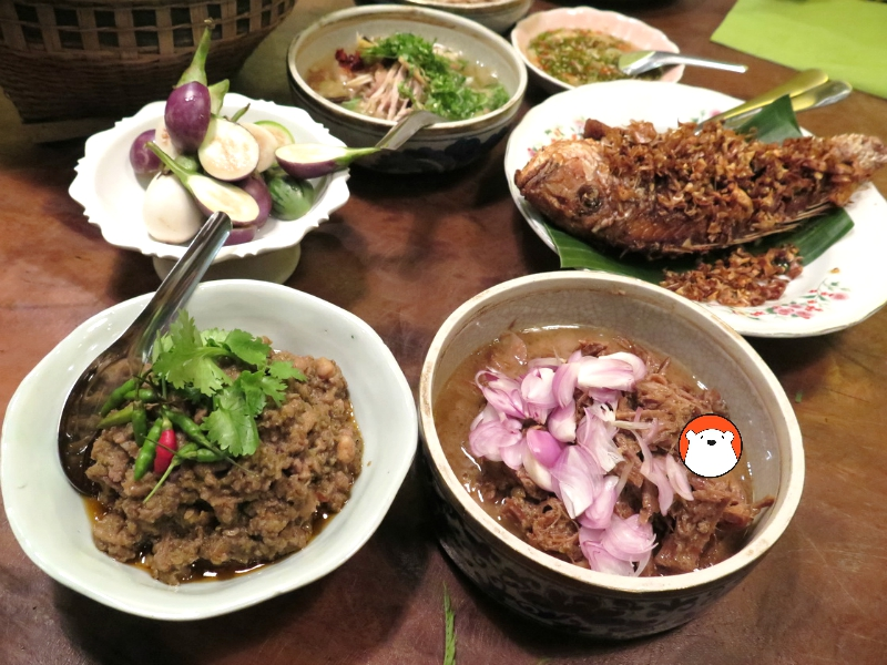 Thai-style 'samrab' or meal that we eat together with steamed rice.